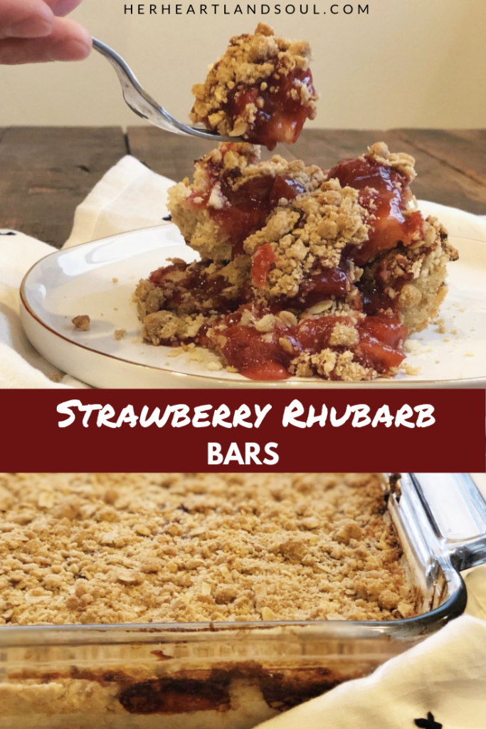 Strawberry Rhubarb Bars - Her Heartland Soul