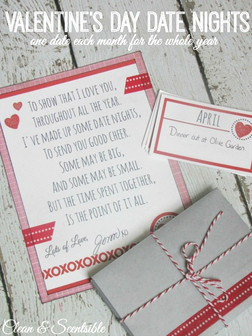 Date Night Cards 14 Creative Valentine's Day Ideas for Him - Her Heartland Soul