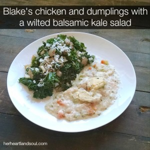 Erin Fairchild Her Heartland Soul Wilted Balsamic Kale Salad #BlakesPairing