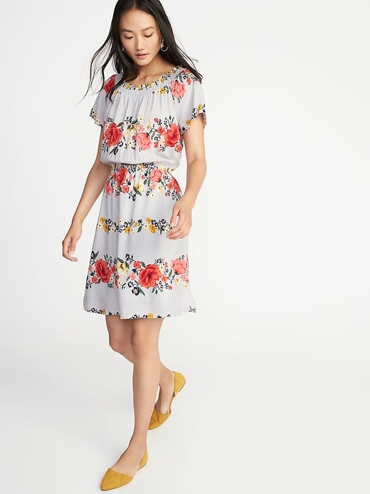 Fall and Summer Smocked Neck Dress - Her Heartland Soul