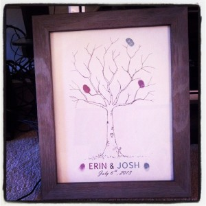 Erin Smith Girl Gone Veggie Wedding Thumbprint Tree
