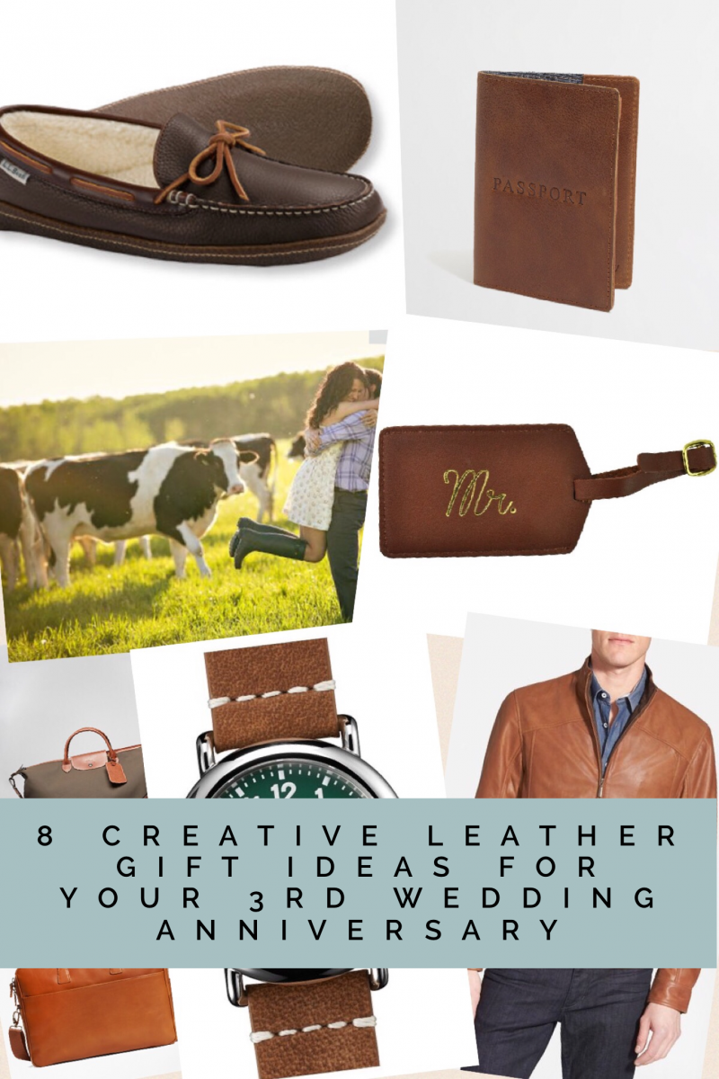 8 creative leather gift ideas for your 3rd wedding for Unique gift ideas for anniversary