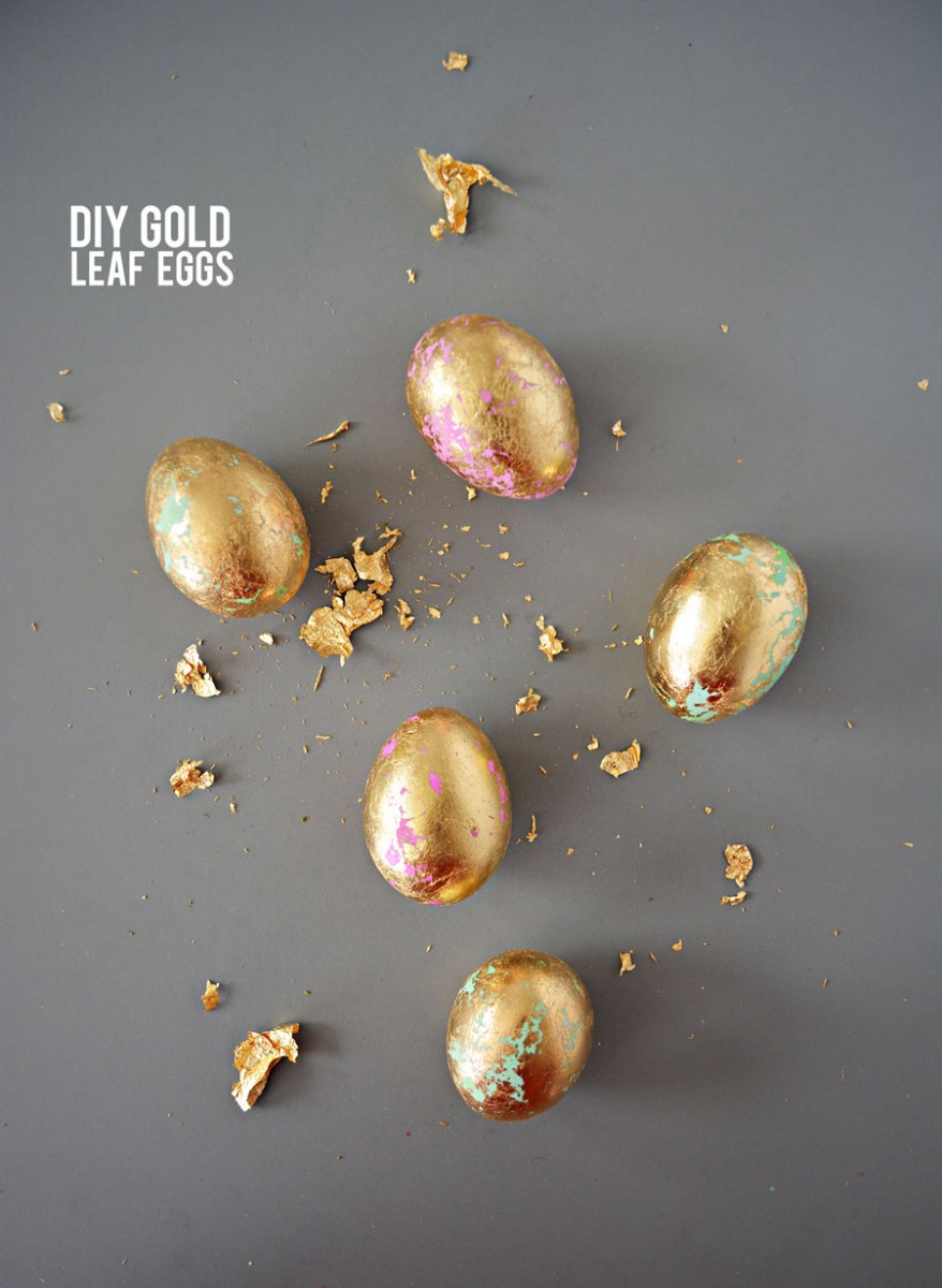 DIY Gold Leaf Eggs Little Inspiration