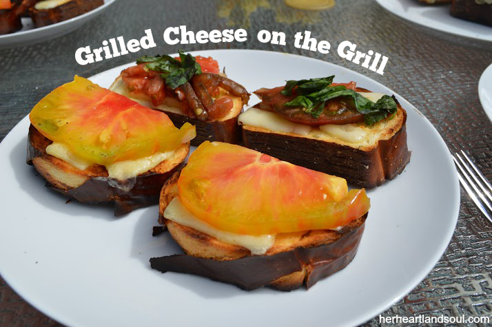 grilled cheese on the grill Her Heartland Soul Erin Fairchild Three Cooks One Kitchen