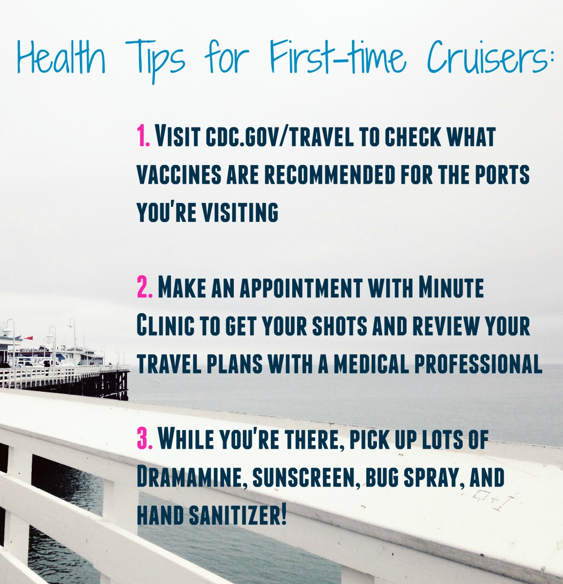 health tips for first time cruisers her heartland soul