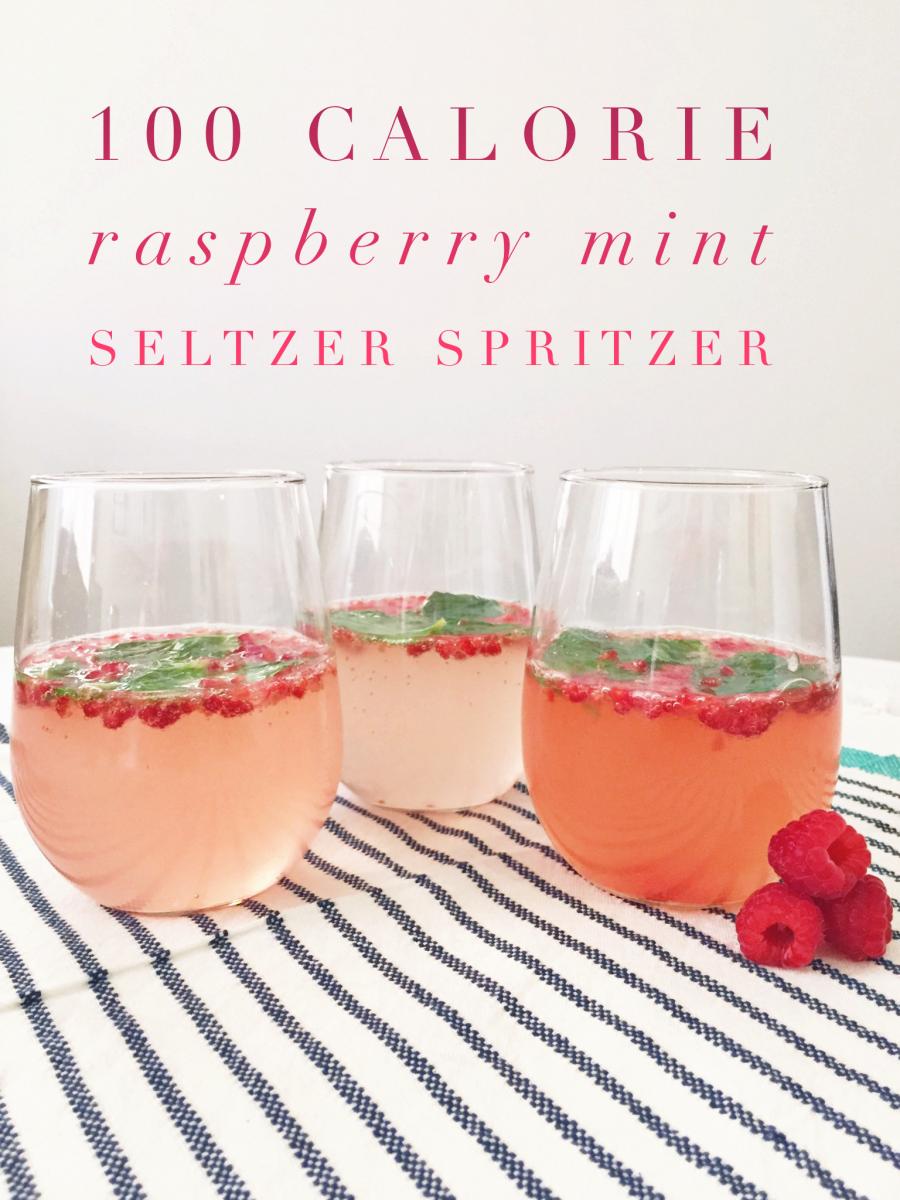 100 Calorie Raspberry Mint Seltzer Spritzer Her Heartland Soul
