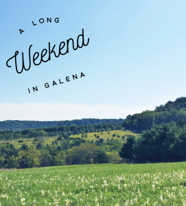 A Long Weekend in Galena