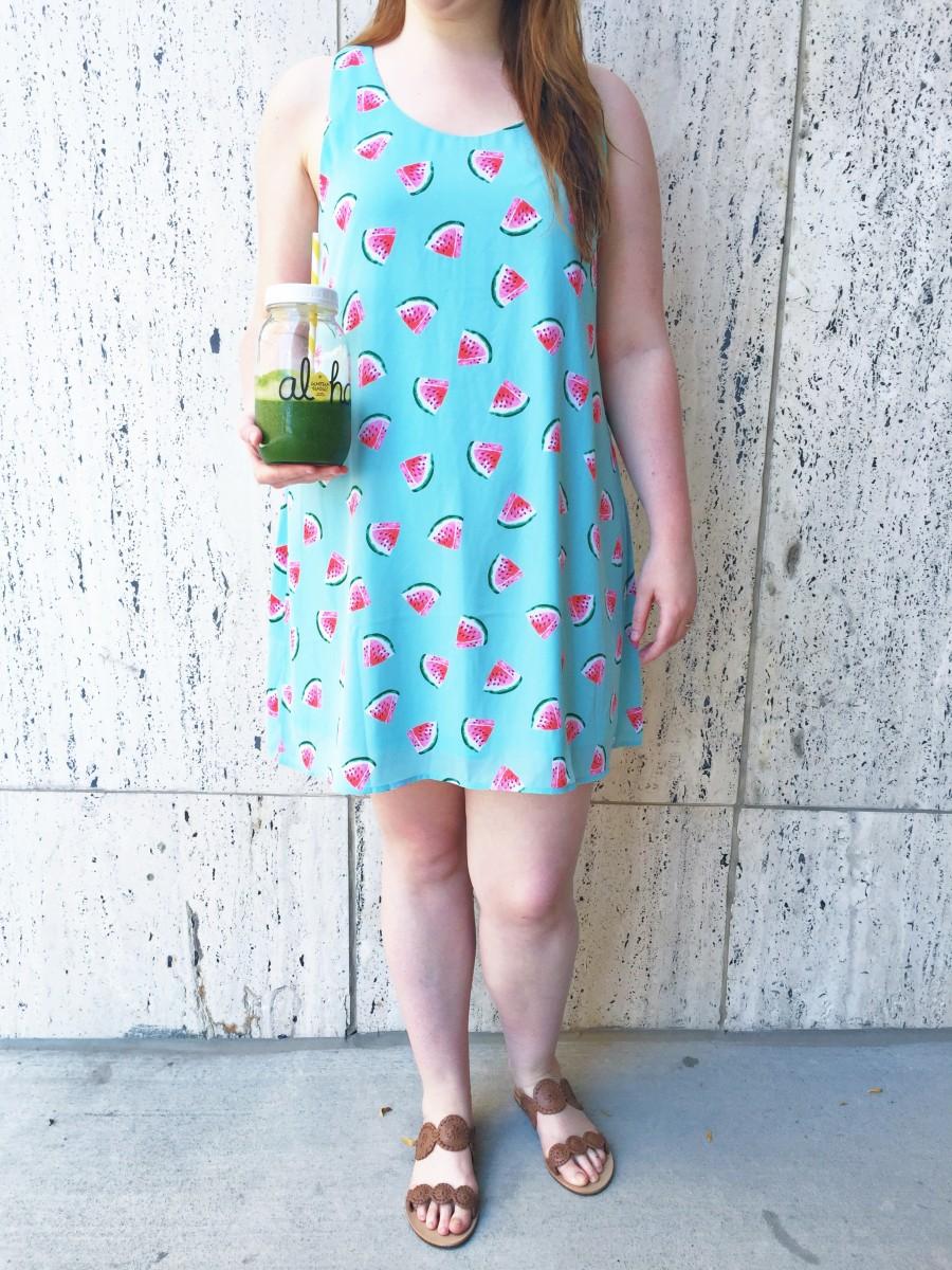 Watermelon Dress Golden Tote Her Heartland Soul
