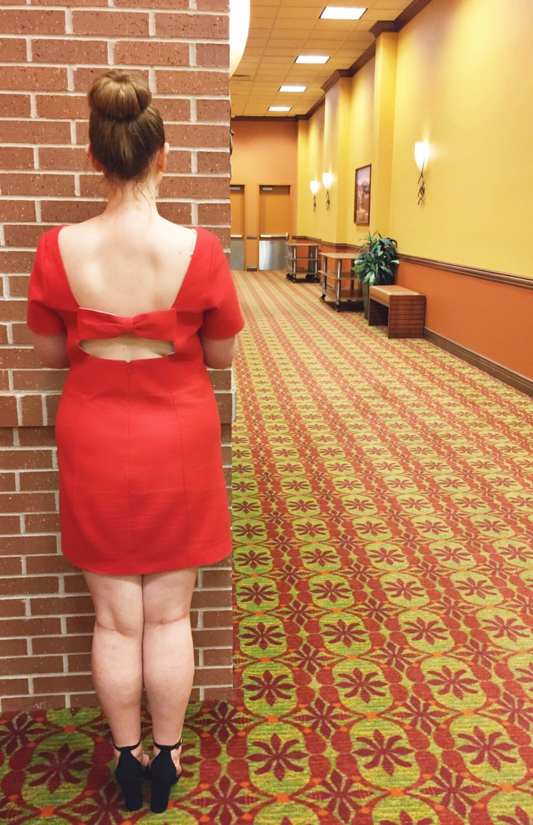 Red Anthropologie Bow Dress Her Heartland Soul