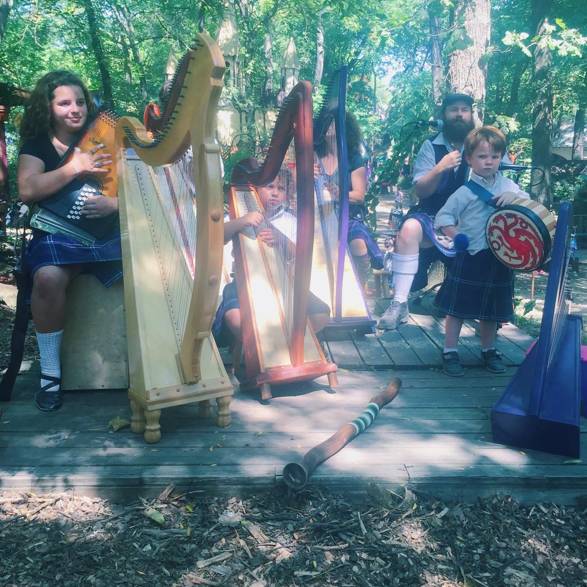 Kansas City Renaissance Festival Dublin Harpers Her Heartland Soul