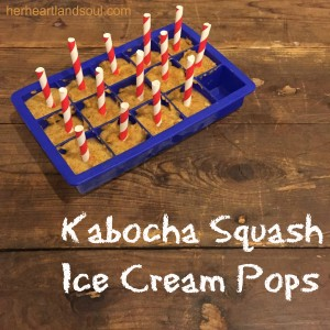 kabocha squash ice cream pops