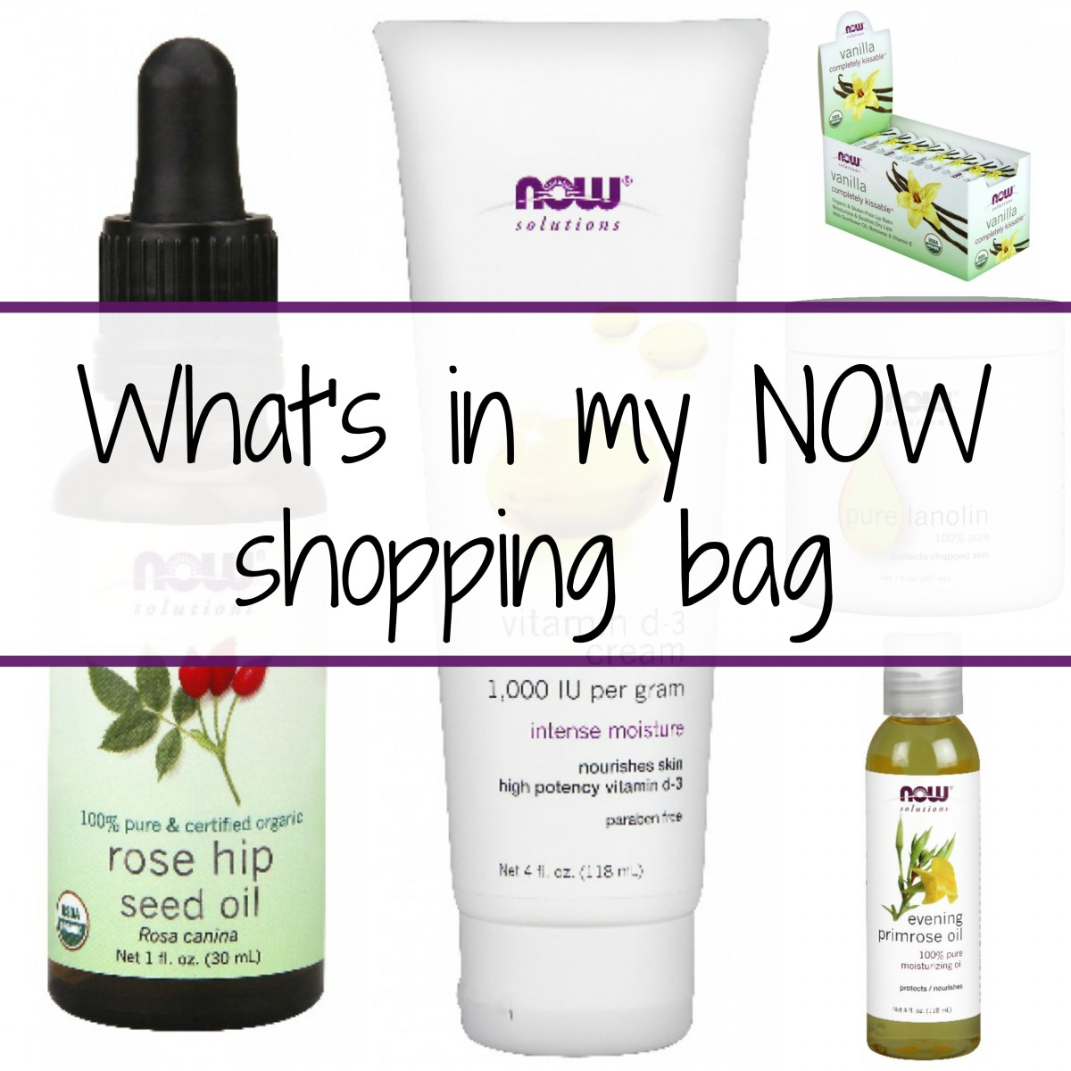 what's in my now foods shopping bag her heartland soul